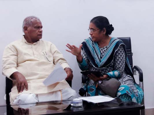 Meeting with Ex chief Minister Jitin Ram Manjhi