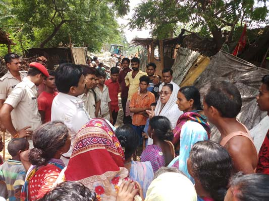 Eviction of residents among urban poor of Patna