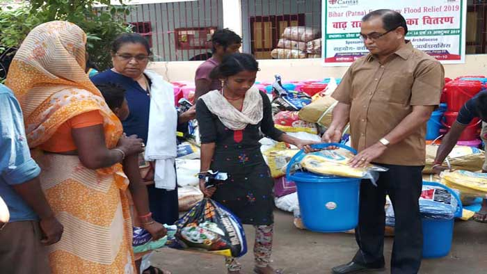 Relief to the victims of flood