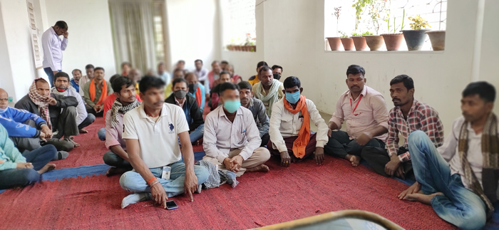 Creating awareness among the construction workers